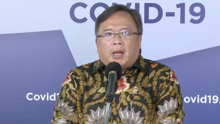 Inovasi Teknologi Untuk Respon Pandemi COVID-19, bersama Bambang Brodjonegoro, Menteri Riset dan Teknologi Republik Indonesia/Kepala Badan Riset dan Inovasi Nasional. (BNPB)