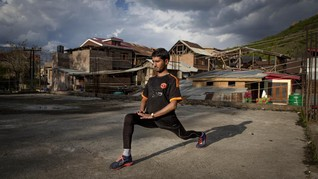 FOTO: Perjuangan Atlet Kashmir Berlatih di Tengah Corona