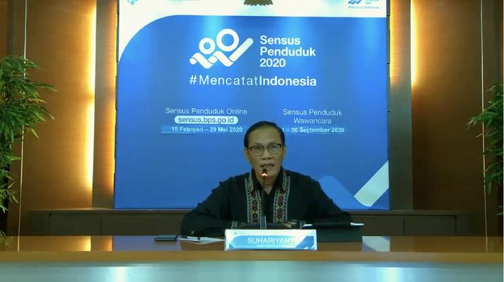 BPS mengumumkan pertumbuhan ekonomi RI di triwulan I-2020 (Youtube BPS Statistics)