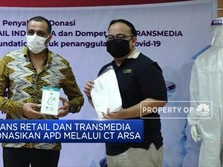 Trans Retail dan Transmedia Donasikan APD Melalui CT Arsa