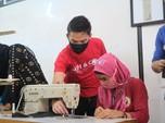 Grab Berdayakan Istri Driver Untuk Produksi Masker