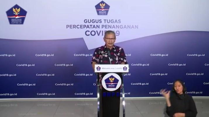 Juru Bicara Pemerintah untuk Penanganan Covid-19 Achmad Yurianto  (Youtube BNPB Indonesia)