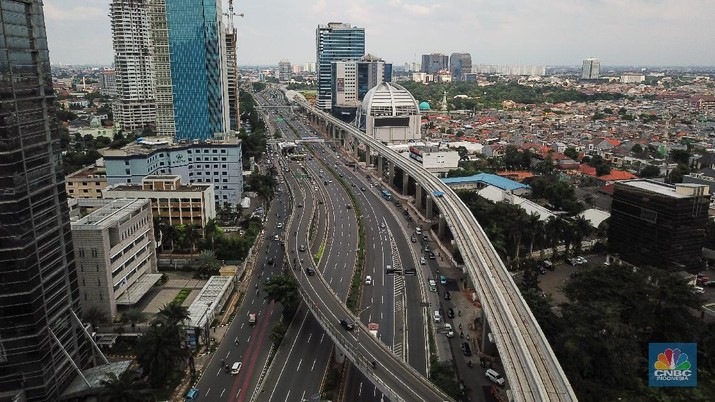 Lalu Lintas di Jakarta (CNBC Indonesia/ Andrean Kristianto)