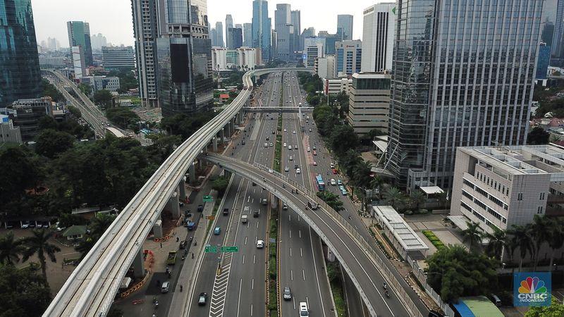 Penampakan Jalan Jakarta Ramai Lancar Sudah Siap New Normal Foto 1