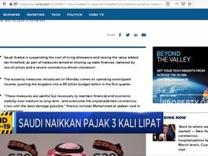 Pemasukan Negara Jeblok,Arab Saudi Naikkan Pajak 3 Kali Lipat