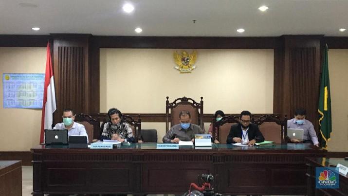 Proses sidang Penundaan Kewajiban Pembayaran Utang (PKPU) PT Karya Citra Nusantara (KCN). (CNBC Indonesia/ Hidayat Surbakti)