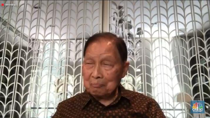 Pendiri Lippo Group Mochtar Riady dalam acara Jakarta CMO Club dengan topik