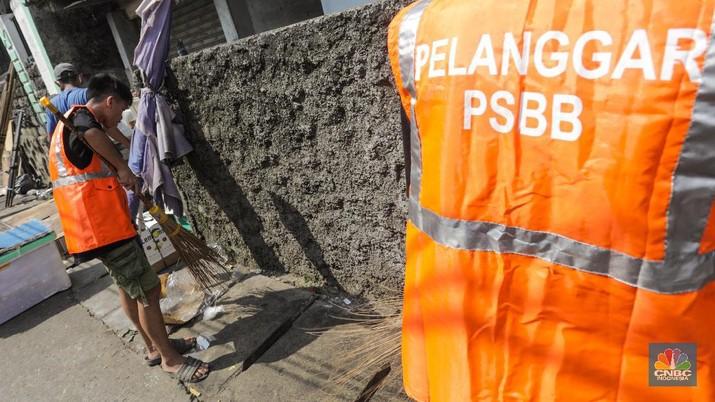 Sanksi bagi warga tidak menggunakan masker (CNBC Indonesia/ Andrean Kristianto)