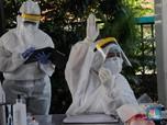 Momen Rapid Test Massal di Zona Merah Corona di Pondok Betung
