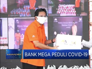 Bank Mega Salurkan Paket Sembako Bagi Warga Terdampak Corona