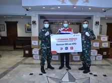 Pertamina Distribusikan APD & Masker Bagi Tenaga Medis TNI AL