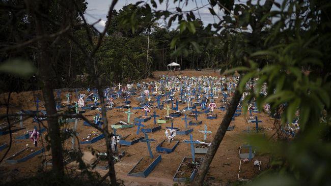 Jumlah Kasus Corona Brasil Kini Tertinggi Kedua di Dunia