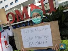 Digoyang PHK, Tenaga Medis OMNI Hospitals Alam Sutera Demo