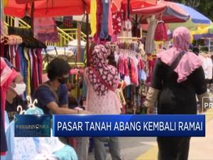 Masih PSBB, Pasar Tanah Abang Kembali Ramai