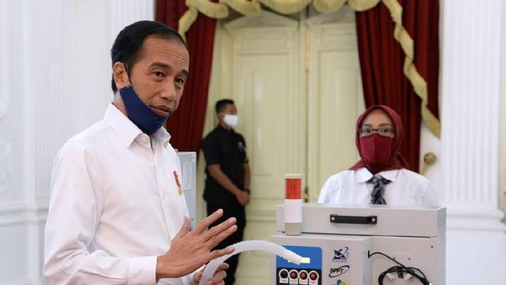 Jokowi Tinjau Alat Kesehatan Karya Anak Bangsa untuk Tangani Covid-19 (Foto: Lukas - Biro Pers Sekretariat Presiden)