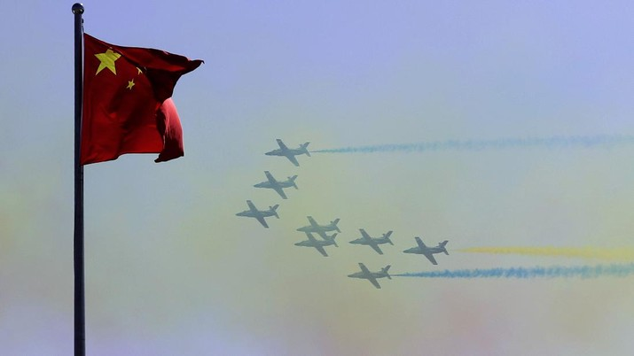 China's K-8 aircraft from the Aerobatic Team