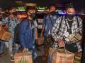 FOTO: Pemudik Terjaring Razia di Tol Cikarang Barat