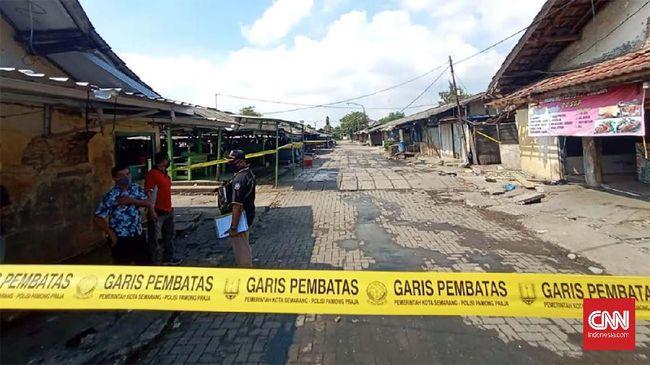 Pasar Kobong Semarang Ditutup Usai Jadi Klaster Covid-19