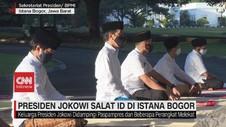 VIDEO: Presiden Jokowi Salat Id di Istana Bogor