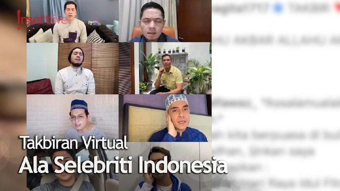 Raffi Ahmad Hingga Baim Wong Lakukan Takbiran Virtual