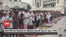 VIDEO: Mayoritas Masjid di Medan Gelar Salat Idul FItri