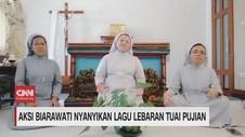 VIDEO: Aksi Biarawati Nyanyikan Lagu Lebaran Tuai Pujian