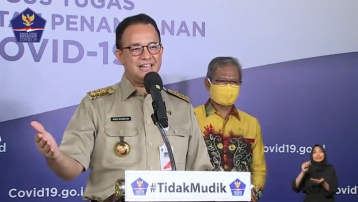 Gubernur DKI Jakarta Anies Baswedan (Youtube BNPB Indonesia)