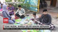 VIDEO: Tidak Mudik, Warga Gelar Makan Bersama