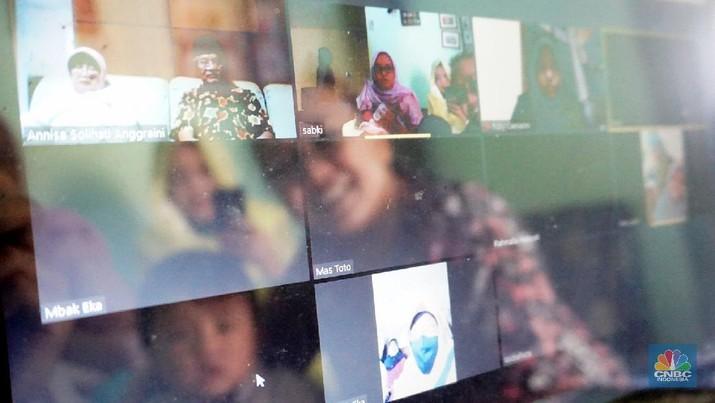 Lebaran via Virtual (CNBC Indonesia/Muhammad Sabki)