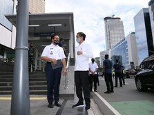 Kunjungi Stasiun MRT, Isyarat Jokowi ke Anies Akhiri PSBB?