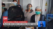 VIDEO: Relawan Medis Sembuh dari Corona Disambut Bahagia