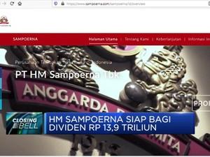 HM Sampoerna Siap Bagi Dividen Rp 13,9 Triliun