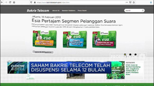 BTEL Saham Bakrie Telecom Berpotensi Delisting
