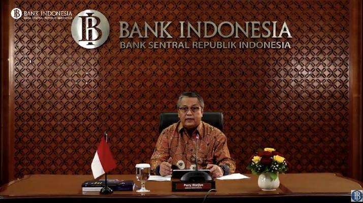 Gubernur Bank Indonesia Perry Warjiyo manyapaikan terkait kondisi ekonomi terkini (Youtube Bank Indonesia)