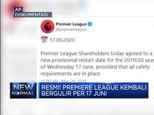 Resmi! Premiere League Kembali Bergulir per 17 Juni