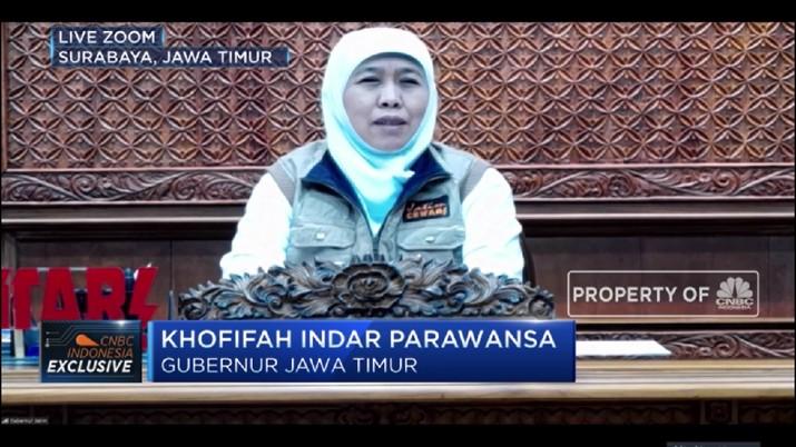Kasus Corona di Jatim Meningkat, Ini Penjelasan Gubernur Khofifah (CNBC Indonesia TV)