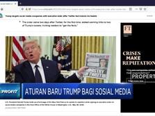 Ditegur Twitter, Trump Buat Aturan Baru untuk Sosial Media