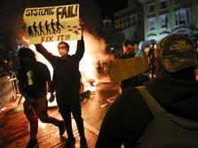 Update Terbaru Demo AS, Polisi & Masa Bentrok di Brooklyn