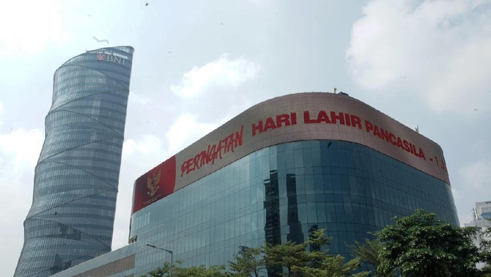 BNI memperingati Hari Lahir Pancasila melalui layar LED Gedung Menara BNI. (Dok.BNI)