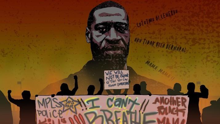 Infografis: George Floyd, Sosok yang Membuat AS 'Membara'