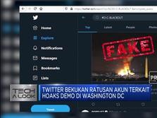 Twitter Bekukan Ratusan Akun Terkait Hoaks Demo di AS