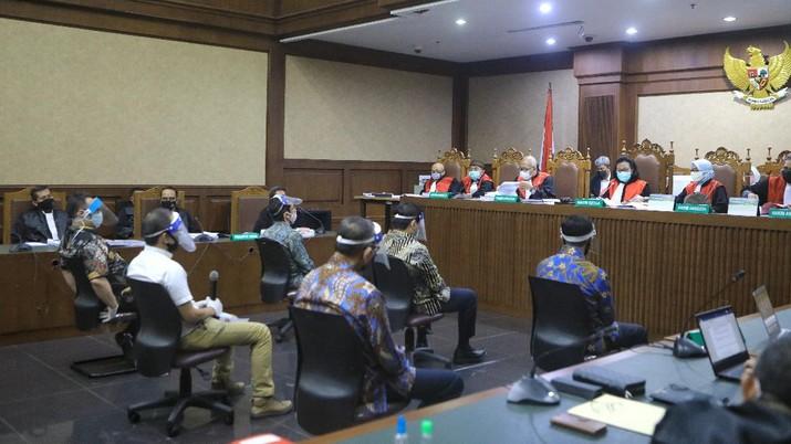 Sidang Perdana Jiwasraya. CNBC Indonesia/Andrean Kristianto
