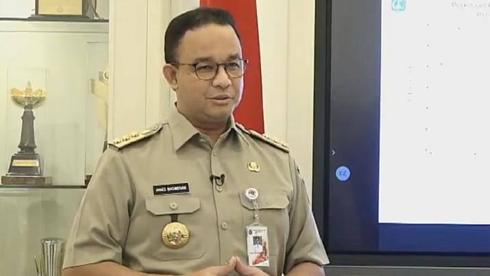 Anies Baswedan, Konferensi Pers Status Pembatasan Sosial Berskala Besar (PSBB) DKI Jakarta. Ist