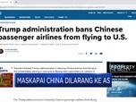 Kini Giliran Maskapai China Dilarang ke AS