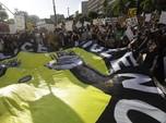 Menyemut, Ribuan Orang Berdemo di Pusat LA Demi George Floyd