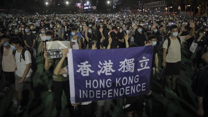 Hong Kong Peringatan Hari Tiananmen. AP/Kin Cheung