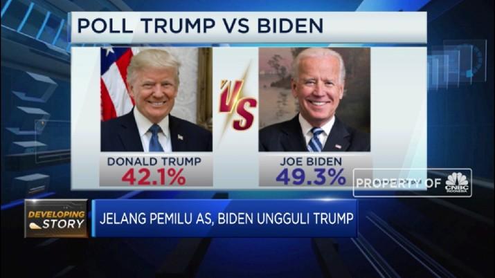Jelang Pemilu AS, Joe Biden Ungguli Donald Trump