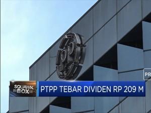 PTPP Tebar Dividen Rp 209 M