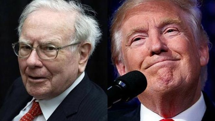 Warren Buffet & Trump (Reuters/AP)