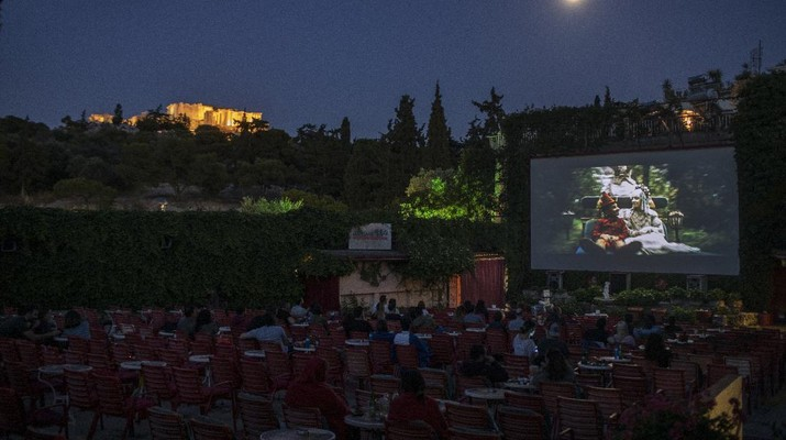 Ilustrasi Bioskop. AP/Petros Giannakouris